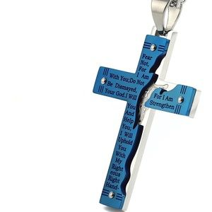 Sheer Stainless Steel Crucifix Cross Necklace